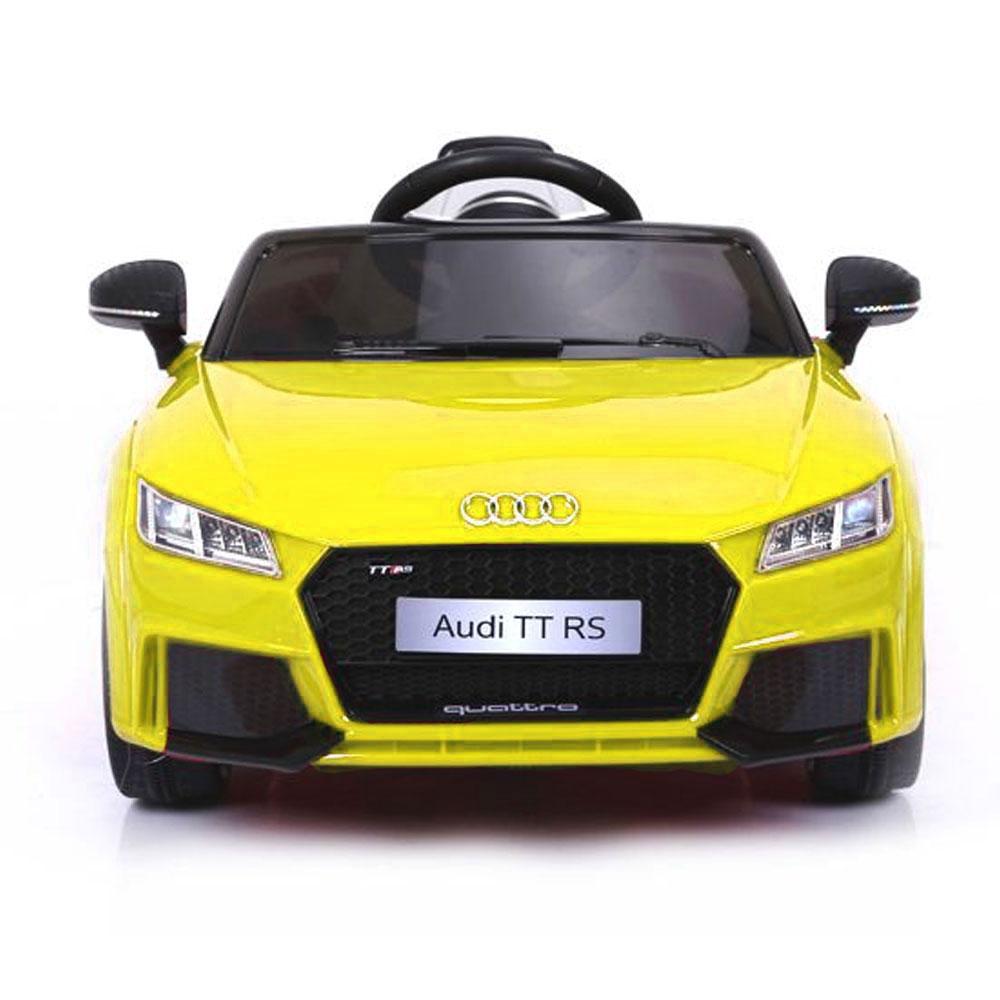 Coche Infantil Eléctrico Audi Tt Rs Amarillo Coches Eléctricos