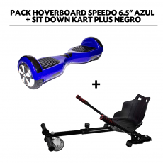 "Pack Hoverboard Speedo 6.5"" Azul + Sit Down Kart Plus Negro"