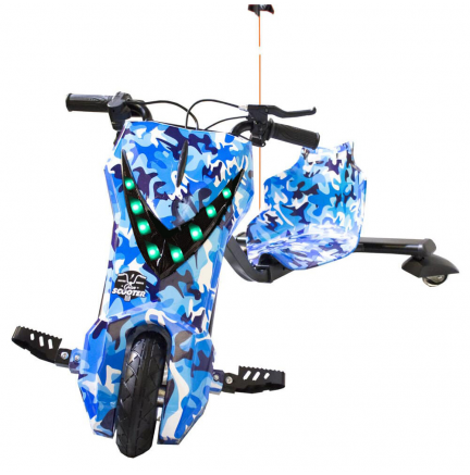 Scooter Boogie Drift Pro Bluetooth 15km/h 3 Veloc. + Llave Camuflaje