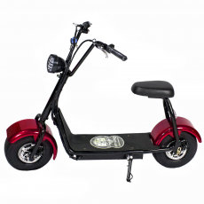 CityCoco MINI 1000W/48V/12aH/Red lithium Gran-Scooter
